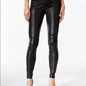 Michael Kors Faux Leather Leggings Black Size 0
